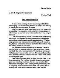 the thunderstorm gcse english marked by teachers com page 1 zoom in