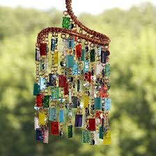 stained glass colored glass wind from anhoki on stained glass wind chimes diy