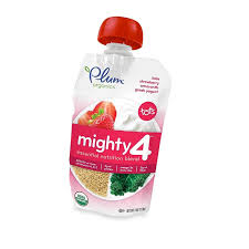 Plum Organics <b>Tots 4</b> Oz. <b>Mighty 4</b> Blend With Kale, Strawberry ...