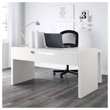 White work desk Computer Desk Ikea Malm Desk With Pullout Panel White Ikea