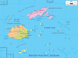 detailed political map of fiji  ezilon maps