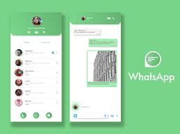 Whatsapp Design App Whatsapp Concept Logo And App By Gabriel Darmon On Dribbble