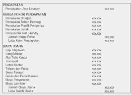 Contoh Laporan Keuangan Jasa Laundry