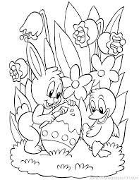 Easter Coloring Pages For Preschoolers Fun Cute Printable Images