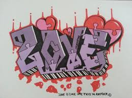 step by step how to draw graffiti letters love