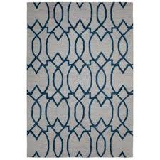 hampton collection ivory 5 ft x 7 ft damask trellis design area rug