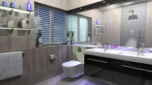 modern bathroom storage. Cool Modern Bathroom Design With Black And Grey Color Furnished Storage Ideas Installed
