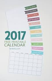 this free printable calendar for 2017 and be on your way to getting organized in