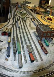 train layout wiring and controls ho train yard area work in progess 3 2011