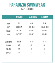 International Clothing Size Chart Small Medium Large Size Charts Bikini Sizing Information And Helpful Guide