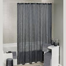 royce semi sheer shower curtain dark gray 72 x 72