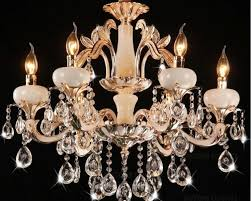 free hot classic crystal chandelier light gold color crystal lighting with 6 arms d650mm