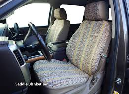installed saddle blanket western seat covers tan