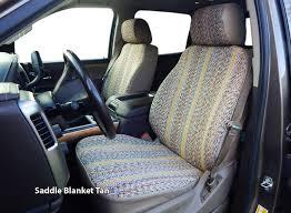 installed saddle blanket western seat covers tan saddle blanket black