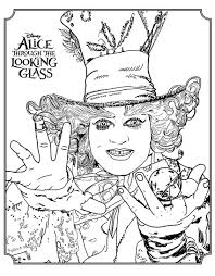 Disney movie for kids coloring pages are a fun way for kids of all ages to develop creativity, focus, motor skills and color recognition. Alice Through The Looking Glass Disney Movies Adult Coloring Pages