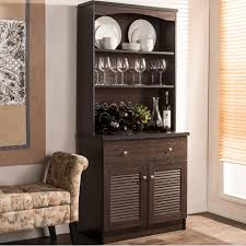 Living Room Buffet Cabinet Dark Brown Wood Sideboards Buffets Kitchen Dining Room