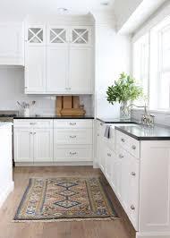 kitchen l shape design. transitional kitchen with glass panel, l-shaped, island, hardwood floors, l shape design