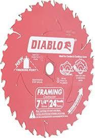 skil logo. freud d0724a diablo 7-1/4-inch 24 tooth atb framing saw blade skil logo