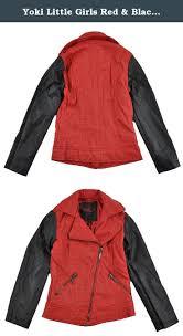 Yoki Little Girls Red Black Faux Leather Jacket 4 Yoki