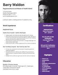 Professional Nursing Resume Template Venngage