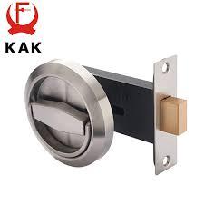 KAK Hidden Door Locks Stainless Steel Handle Recessed Invisible