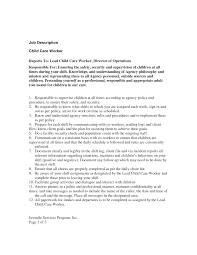 preschool director resume. resume description for child care ...