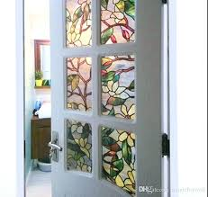 frosted window for front door frosting for windows for privacy magnolia flower stained glass static cling window for bathroom