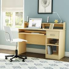 south s as contemporary style computer desk in natural maple