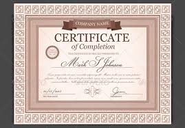 templates for certificates of completion kids completion certificate template