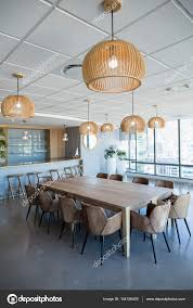 office cafeteria. Office Cafeteria With Table And Chairs \u2014 Stock Photo D