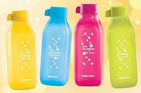 tupperware sip shine celebration bottle 500ml set of 4 with gift box