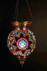 mediterranean light fixtures hanging stained glass mosaic ottoman lantern lamp chandelier fixture outdoor i55