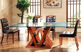 glass and wooden dining tables fashion design wood dining table with glass top set whole larger