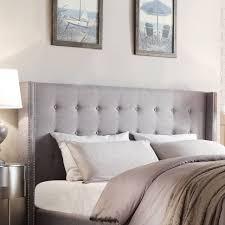 bed  white headboard queen linen headboard grey headboard full