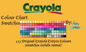 Crayola Crayons 133 Swatches By Suspiria Ru On Deviantart