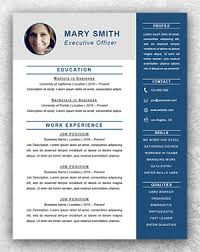 Executive Resume Template Word Resume Template Start