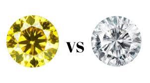 Yellow Diamond Vs White Diamond Yellow Diamond Vs White Diamond