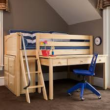 marvelous low loft bed with desk carter low loft bed with dressers and desk rosenberryrooms