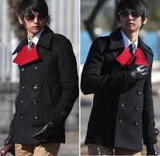 new arrival mens trench coat double ted slim wind jacket woolen black m l xl 727 sku smt481822176