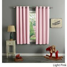 aurora home grommet top thermal insulated blackout 64 inch curtain panel pair light pink size 52 x 64 polyester solid