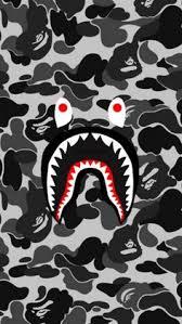 Bape Pattern Extraordinary Shark Black Bape Camo Wallpaper Pinterest Bape Shark And Camo