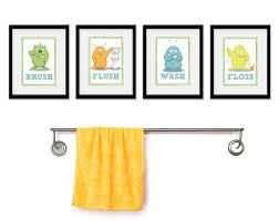 kids bathroom wall decor. Kids Bathroom Art Children\u0027s Wall Decor Monsters For The (Image N