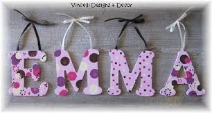 Wooden Letters Design Wooden Letter Custom Wall Hangings Pink