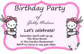 Printable Hello Kitty Invitations Personalized Hello Kitty Invitation Sample