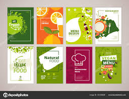 Menu Presentation Design Set Restaurant Menu Brochure Flyer Design Templates Size
