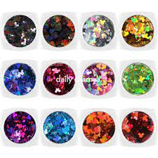 Colorful Holographic Mickey Mouse Glitter Set / 12 Jars – Daily Charme