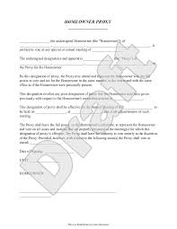 Homeowners Association Proxy Form With Sample Hoa Proxy Form