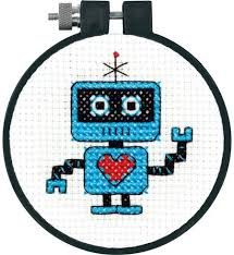 Easy Cross Stitch Patterns Unique Dimensions Robot LearnACraft Beginner Cross Stitch Kit 4848
