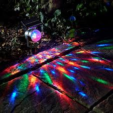 carnival kaleidoscope solar led spotlight set of 2 multi colour