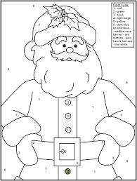 Christmas Color By Number Coloring Pages - GetColoringPages.com